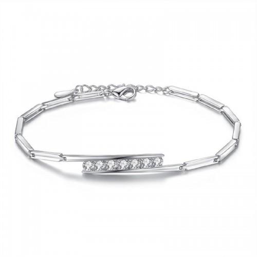 Sansar India Alloy Silver Bracelet