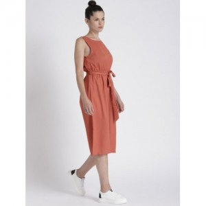 Chemistry Rust Red Solid StylED Back Culottes