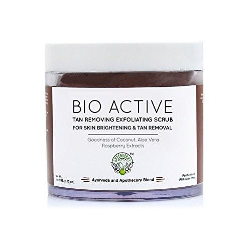 Greenberry Organics Bio Active Tan Removing Exfoliating Scrub for Skin Brightening & Tan Removal 100 GMS