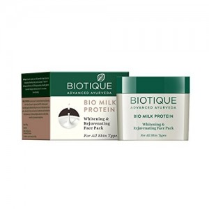 Biotique Bio Milk Protein Whitening & Rejuvenating Face Pack For All Skin Types, 50G