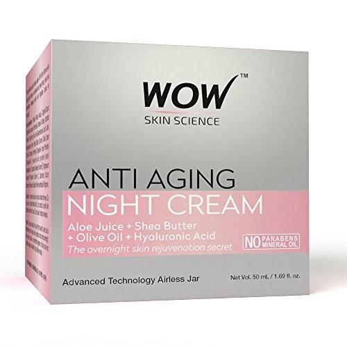 WOW Anti Aging Mineral Oil Night Cream, 50mL