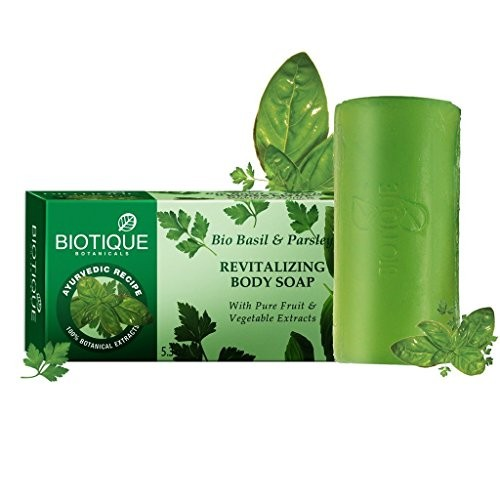 Biotique Basil And Parsley Soap, 150g (Pack of 3)