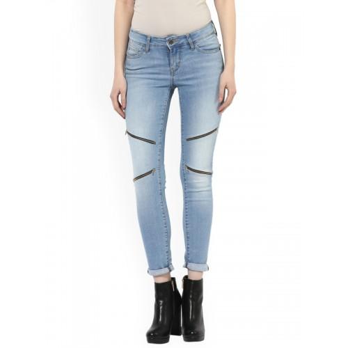 d47cd0a9d7 ... Estrolo Women Blue Slim Fit Mid-Rise Clean Look Stretchable Jeans ...