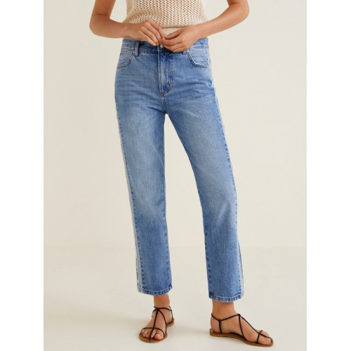 Buy Mango Women Blue Straight Fit Mid Rise Clean Look Jeans Online Looksgud In We offer styles and fits for all body types and a large selection of plus size jeans. buy mango women blue straight fit mid