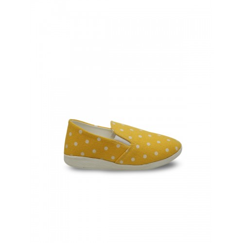 DChica Girls Yellow Slip-On Sneakers
