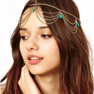 Femnmas Princess Gold Metal Chain Head Band For Girls