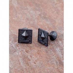 Dare by Voylla Black Geometric Cufflinks
