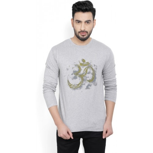 Billion PerfectFit Graphic Print Men Round Neck Grey T-Shirt