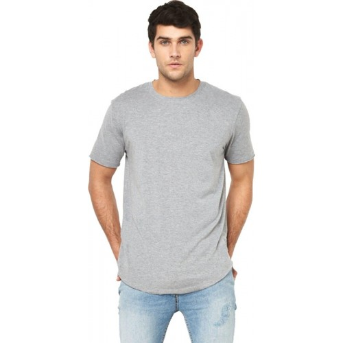 Young Trendz Solid Men's Round Neck Grey T-Shirt