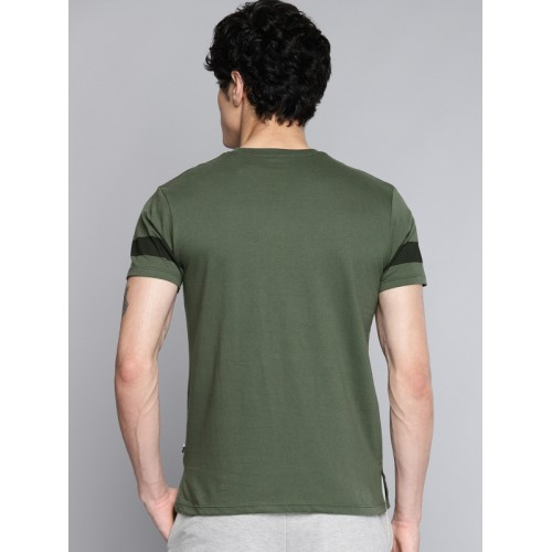 Kook N Keech Disney Men Olive Green Printed Round Neck T-shirt