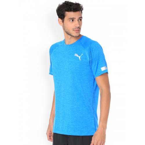33669dab626466 Buy Puma Men Blue Solid Round Neck BND Tech SS Tee T-shirt online ...