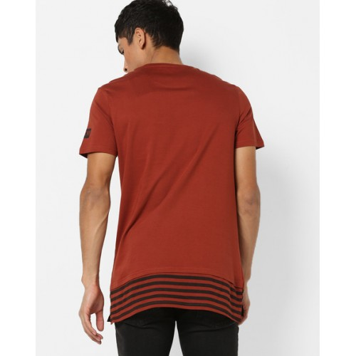AJIO Panelled Crew-Neck T-shirt