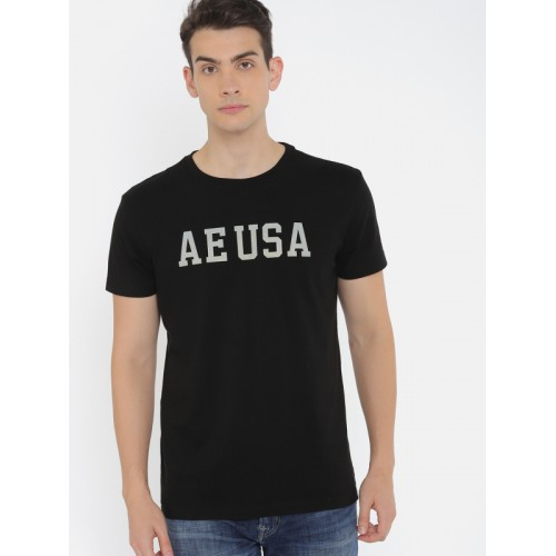 708aef0b Buy AMERICAN EAGLE OUTFITTERS Men Black Printed T-shirt online ...
