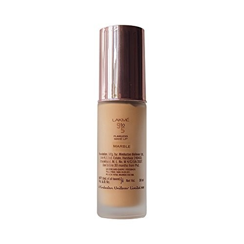 ... Lakme 9 to 5 Flawless Makeup Foundation, Marble, 30ml ...