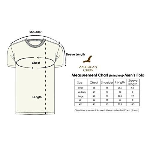 AMERICAN CREW Men's Polyester T-Shirt