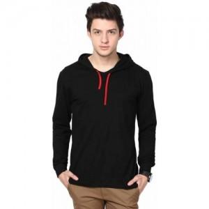 premium selection 92a8b d86e8 Urbano Fashion Solid Men s Hooded Black T-Shirt. ₹385 ₹999 Flipkart