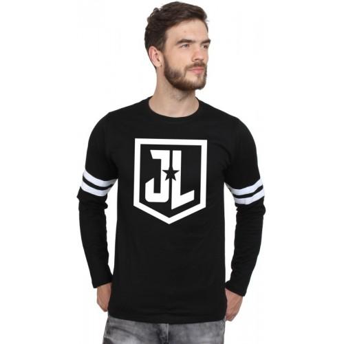 1eb8fd2da9ef SayItLoud Justice League Superhero, Printed Men's Round Neck Black, White T- Shirt