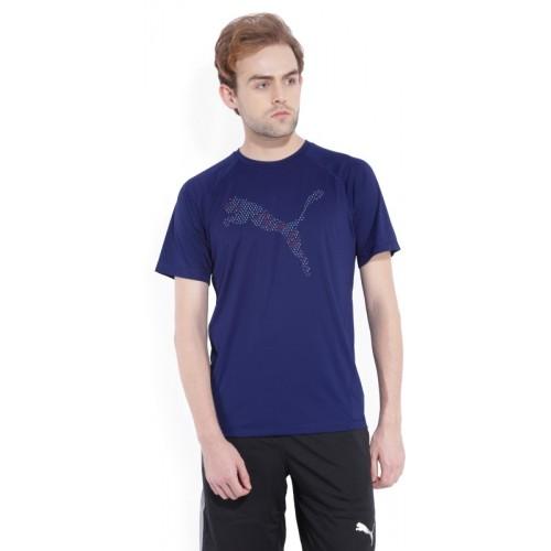 462aef4501da Buy Puma Printed Men s Round Neck Blue T-Shirt online