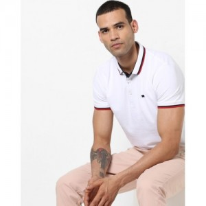 Levi's Solid Men's Polo Neck White T-Shirt