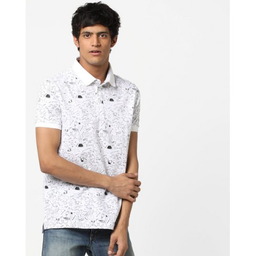 28a85609fc7 Buy AJIO Printed Polo T-shirt online