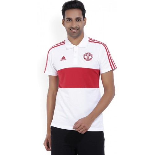 01fc220e4b3 Buy ADIDAS Manchester United Solid Men s Polo Neck Red
