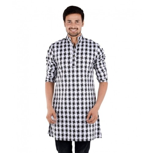 8a191332a8 Buy S9 Men Black Cotton Blend Full Sleeves Kurta online | Looksgud.in