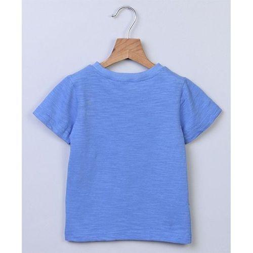 Beebay Boys Dino Allover Print T-Shirt (Blue)