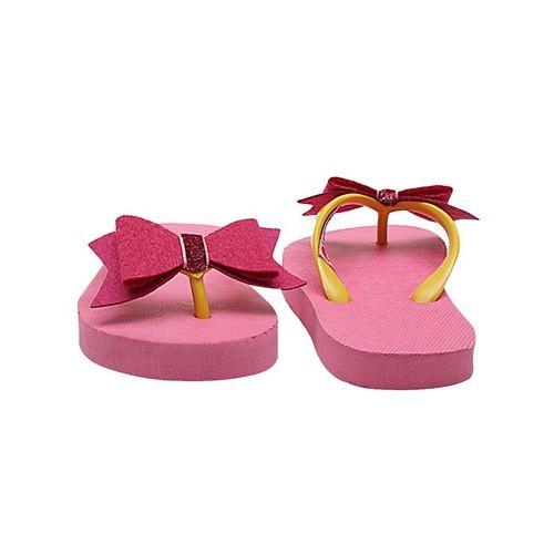 D'chica Pink  Bow Flip Flops