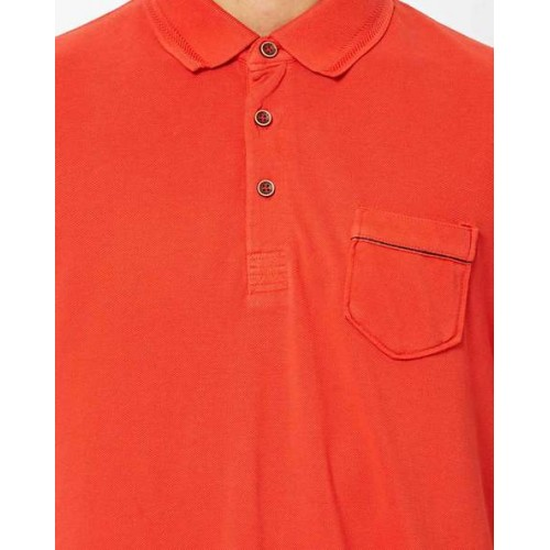 INDIAN TERRAIN Slim Fit Polo T-shirt with Patch Pocket