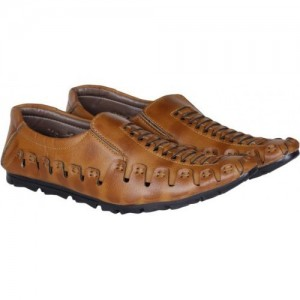 Emosis Ethnic Look Loafers For Men(Tan)