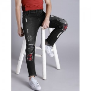 Kook N Keech Black Slim Fit Stretchable Jeans