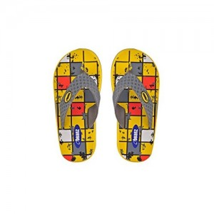 Beanz Yellow & Grey Subber Slipper For Boys