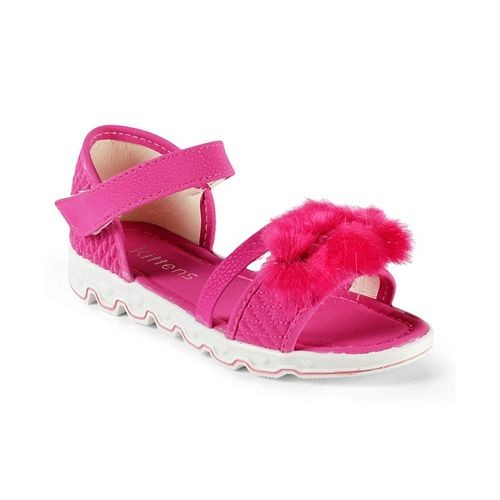 Kittens Shoes PInk Synthetic Leather Applique Sandals