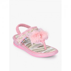 Kittens Pink Synthetic Weave Sandals