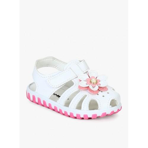 Kittens White Sandals For Girls
