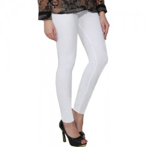 PAMO Ankle Length  Legging(White, Solid)