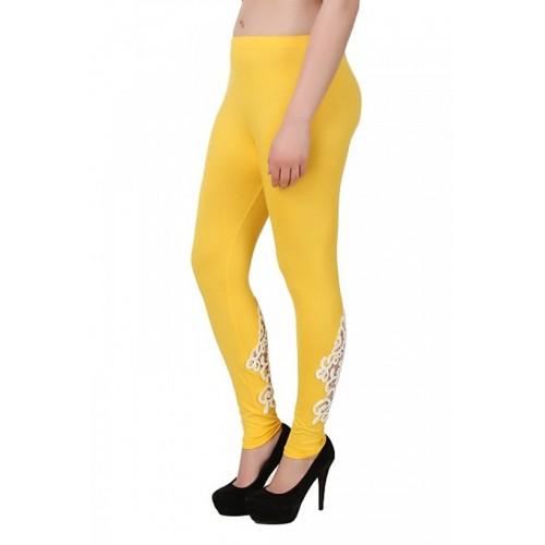 You Forever Yellow Designer Viscose Lycra Leggings