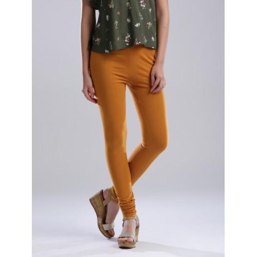 W Mustard Yellow Churidar Leggings