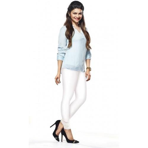 1e660903ee Buy Womens White Lycra Cotton Churidar Leggings online | Looksgud.in