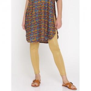 Global Desi Gold-Toned Leggings