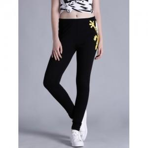 Kook N Keech Garfield Black Printed Ankle-Length Leggings