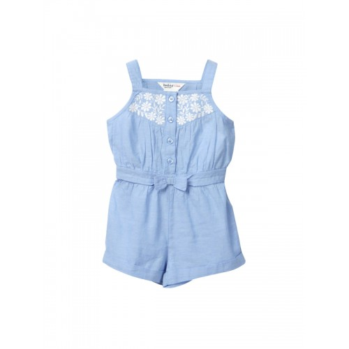 Beebay Girls Light Blue Playsuit