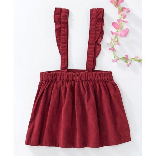 Beebay Maroon Cotton Skirts & Dividers Flower Print