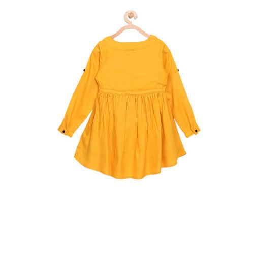 Bella Moda Kids Yellow Embroidered Dress