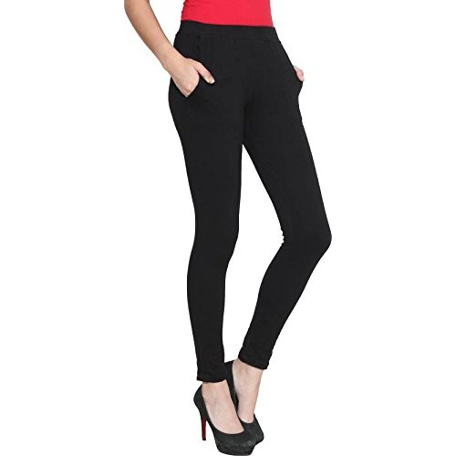 659f1da0cbcece Alishah Cotton Lycra Ankle Length Leggings With Side Pockets In Two Colors  Black & White ...