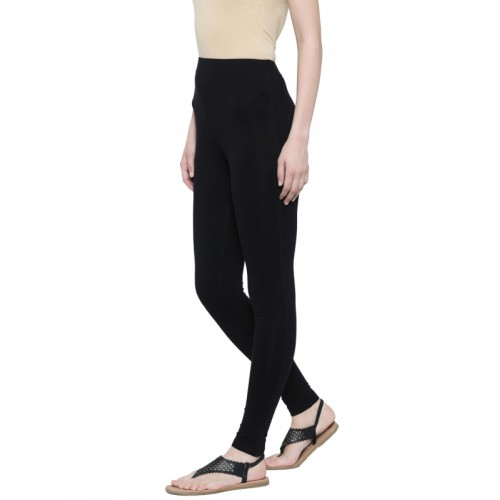 De Moza Black Ankle-Length Leggings