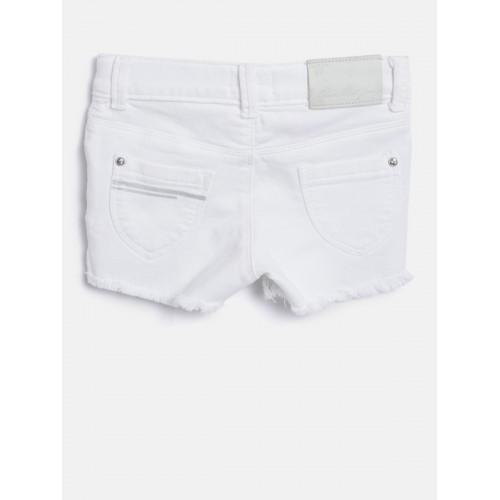 Buy Gini and Jony Girls White Printed Detail Regular Fit Hot
