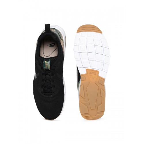 huge discount 704e6 40a48 ... Nike Men Black Textile AIR MAX MOTION LW PREM Running Shoes ...