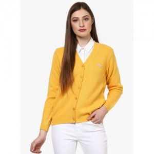 Monte Carlo Yellow Solid Sweater