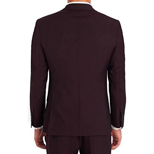 Creative Men's Maroon Cotton Blazer